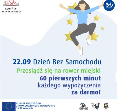 (Polski) Dzień bez samochodu na Konińskim Rowerze Miejskim: pierwsza godzina za darmo